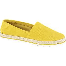 Gele suède espadrille touwzool 5th Avenue