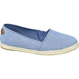 Blauwe espadrille touwzool Graceland