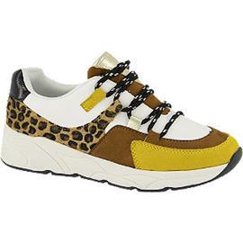 Witte chunky sneaker panterprint Graceland