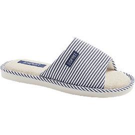 Blauw met wit gestreepte zomer pantoffel Esprit