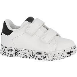 Witte sneaker klittenband Bobbi-Shoes