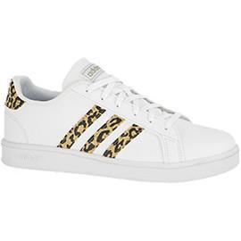 Witte GRAND COURT K Panterprint adidas