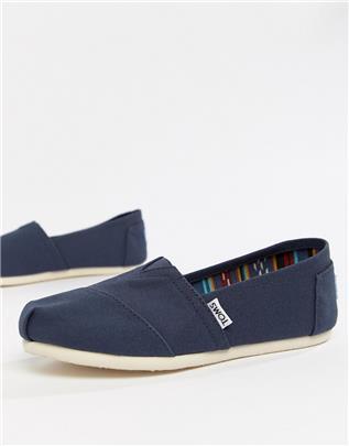 TOMS - Classic - Platte schoenen van canvas in marineblauw