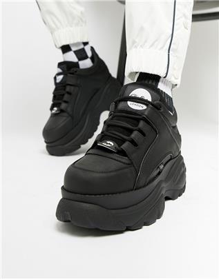 Buffalo - Classic - Sneakers met dikke zool in zwart