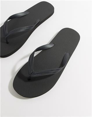 ASOS Design - Teenslippers in zwart