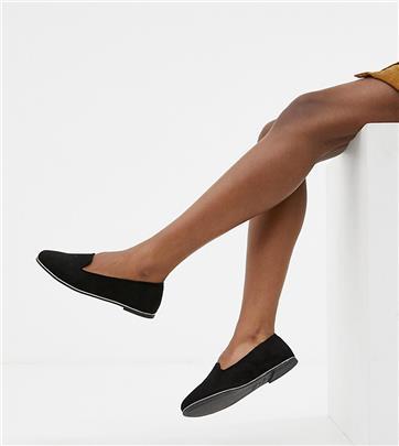 New Look Wide Fit - Instappers-Zwart