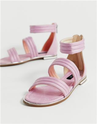 Blink - Platte sandalen met bandje-Roze