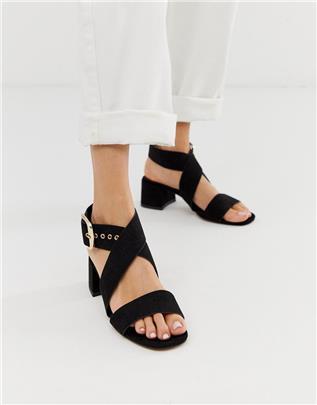 ASOS DESIGN - Hip Hop - Sandalen met blokhak in zwart