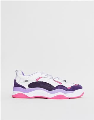 Vans - Varix WC - Wit met paarse sneakers