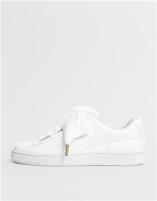 Puma - Basket heart - Lakleren sneakers in wit