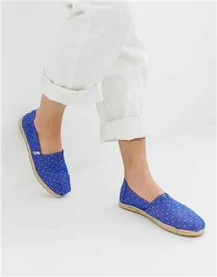 TOMS - Klassieke canvas schoenen met jute zool-Blauw