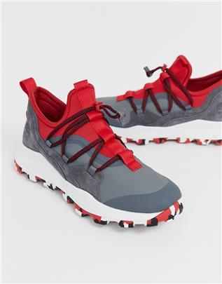 Timberland - Brooklyn - Wandelsneakers in grijs en rood