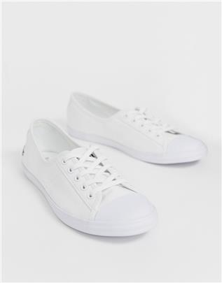 Lacoste - Ziane - Canvas gympen in wit