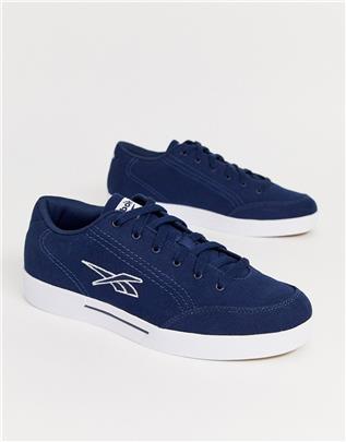 Reebok - Slice - Canvas sneakers met logo in marineblauw