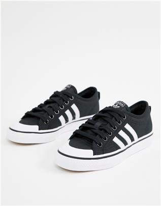 adidas Originals - Nizza - Sneakers in zwart en wit