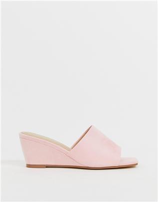 Glamorous - Sandalen met sleehak in roze