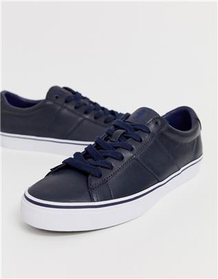 Polo Ralph Lauren - Sneakers in marineblauw-Grijs