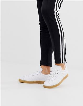 adidas Originals - Gazelle - in wit en met gumzool