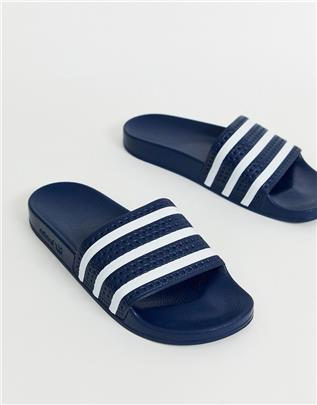 adidas Originals - Adilette - Slippers in marineblauw