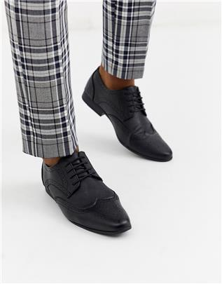 New Look - Business brogue van imitatieleer in zwart