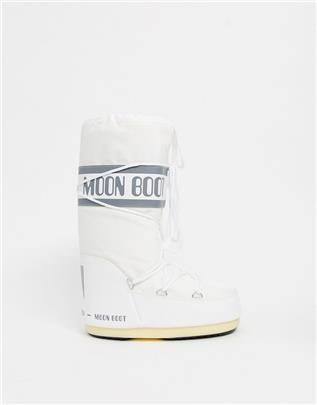 Moon Boot - Nylon snowboots met logo in wit