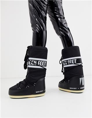 Moon Boot - Nylon snowboots met logo in zwart