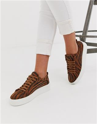 Vero Moda - Sneakers met tijgerprint-Multi