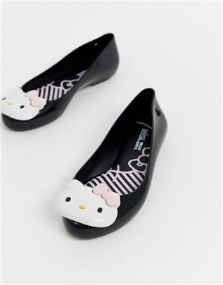 Hello Kitty - Ballerina's met logo in zwart