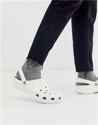 Klassieke Crocs schoenen in wit