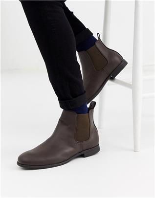 Jack & Jones - Chelsea boots van imitatieleer in bruin