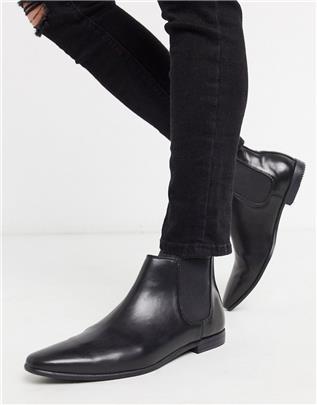 Topman - Chelsea boots in zwart