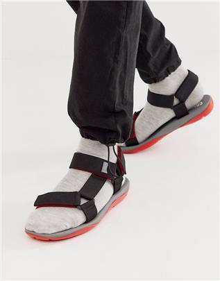 Camper - Match - Sandalen met dikke zool in zwart/rood