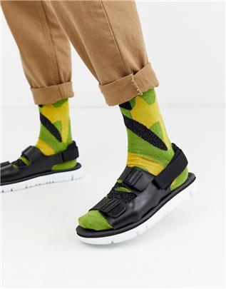 Camper - Oruga - Sandalen met dikke zool in zwart