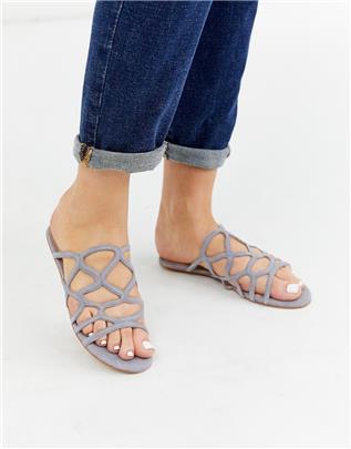 Vero Moda - Platte sandalen-Grijs