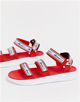 Ellesse - Denso - Sandalen met dikke zool in rood