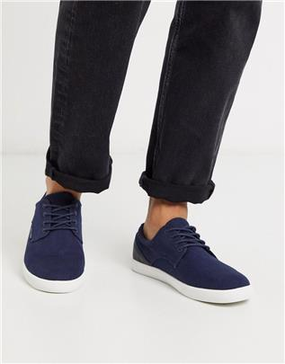 Jack & Jones - Canvas gympen in marineblauw
