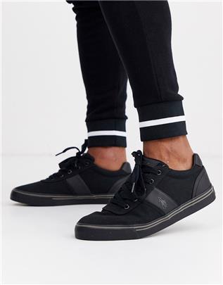 Polo Ralph Lauren - Hanford - Canvas sneakers in zwart
