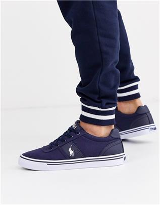 Polo Ralph Lauren - Hanford - Canvas sneakers in blauw