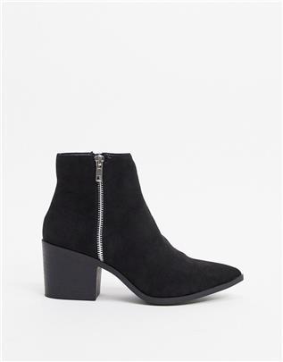 New Look - Westernlaarzen met blokhak in zwart