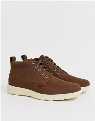 Kickers - Mens Kelland - Leren laarzen in bruin