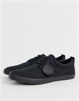 Kickers - Mens Kariko Gibb - Canvas schoenen in zwart