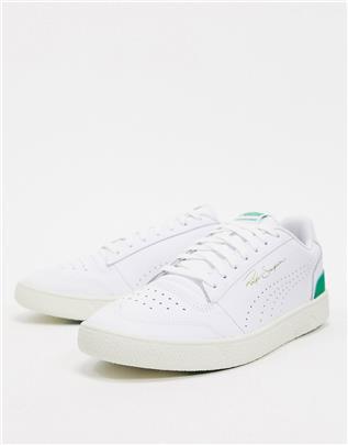 Puma - Ralph Sampson - Sneakers in wit en groen