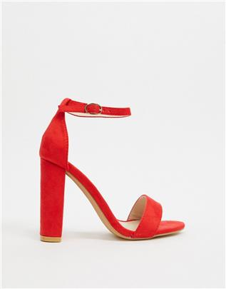 Glamorous - Barely there - Hakken in rood