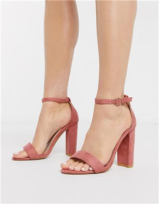 Glamorous - Minimalistische hakken in roze