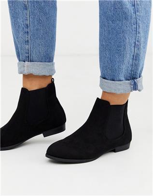 New Look - Basic Chelsea boots in zwart