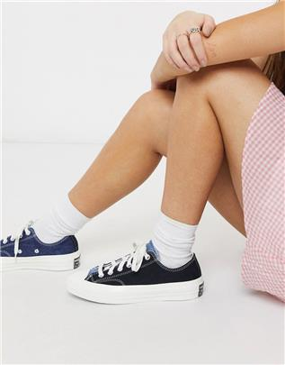 Converse - Chuck 70 Lo Renew - Denim sneakers-Blauw