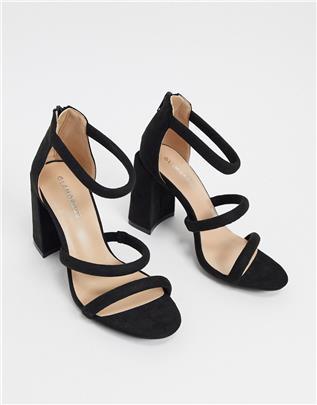 Glamorous - Sandalen met blokhak in zwart