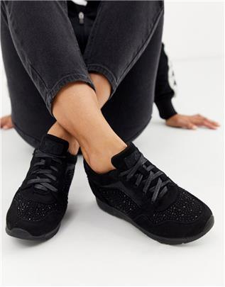 XTI - Hardloopschoenen met sierdiamantjes in zwart
