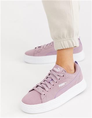Puma - Smash - Sneakers met plateauzool-Paars