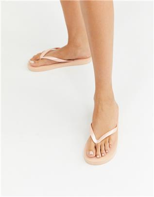 ASOS DESIGN - Filter - Teenslippers in creme-Wit